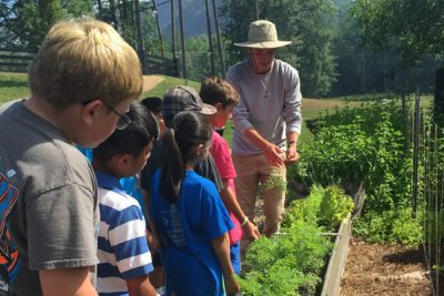 Boys & Girls Club learning about gardening