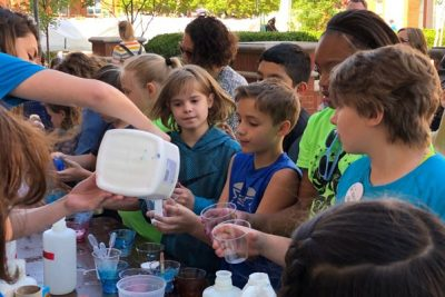 4th and 5th grade students attend the UNC-Charlotte Science and Technology Expo in 2018